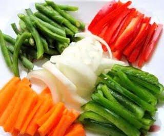 vegetales cortados
