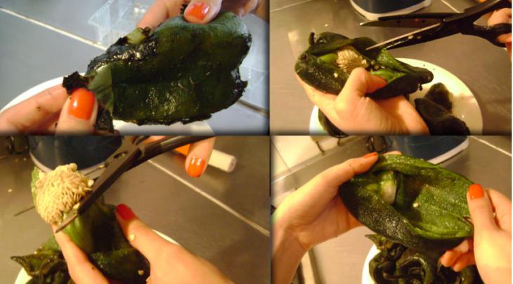 pelar chiles